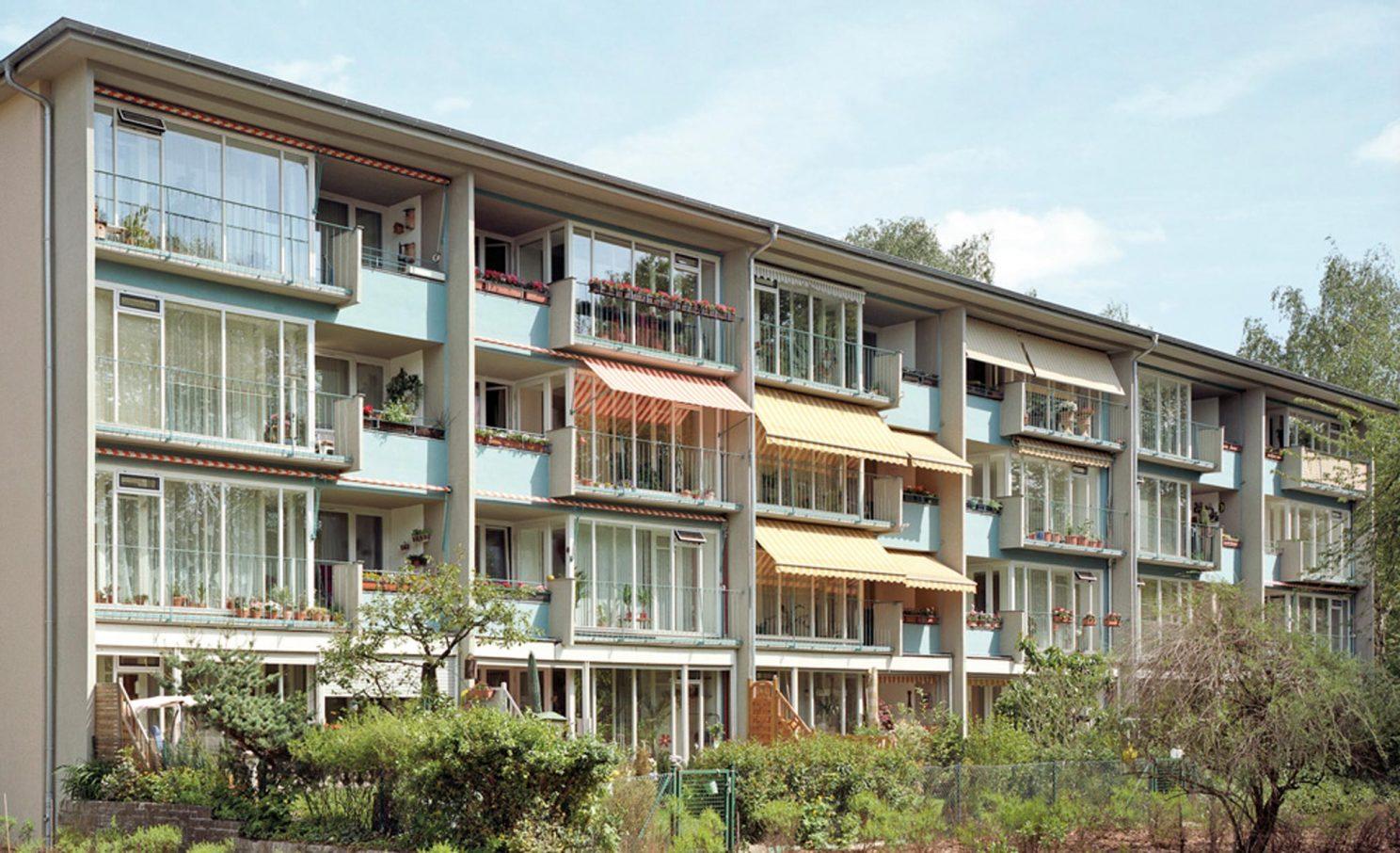 Glas Hoffmann Bauten Siedlung Schillerpark Brenne Architekten